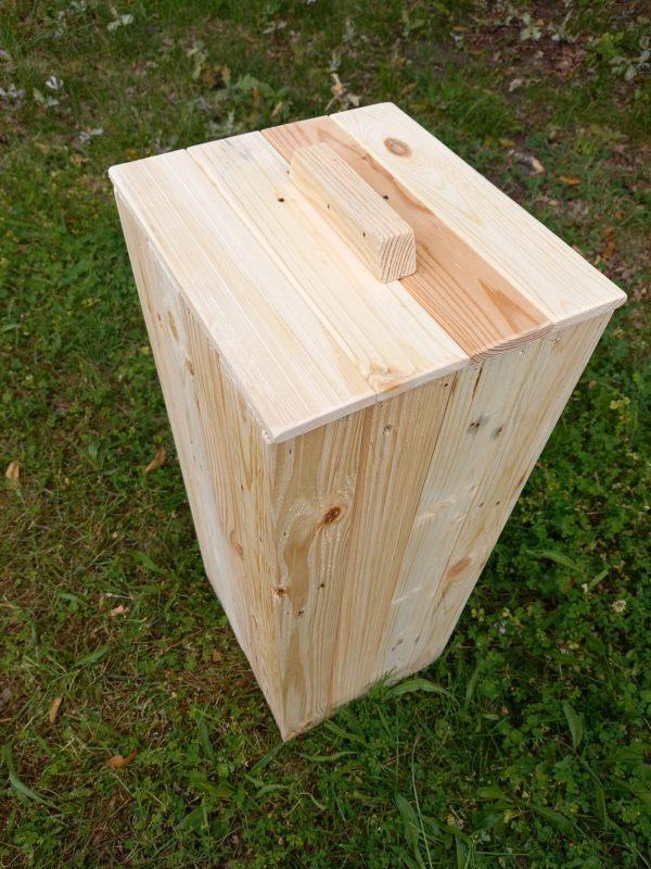 Poubelle 50 litres bois de palettes